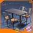 Uptop Furnishings industrial dining table and chairs stackable for bar