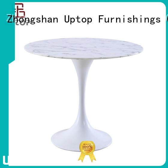 steel edge white leisure table Uptop Furnishings Brand