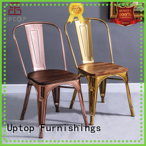 Uptop Furnishings gold retro dining chairs bulk production for restaurant