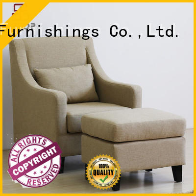 Wholesale fabric upholstered arm chair linen Uptop Furnishings Brand