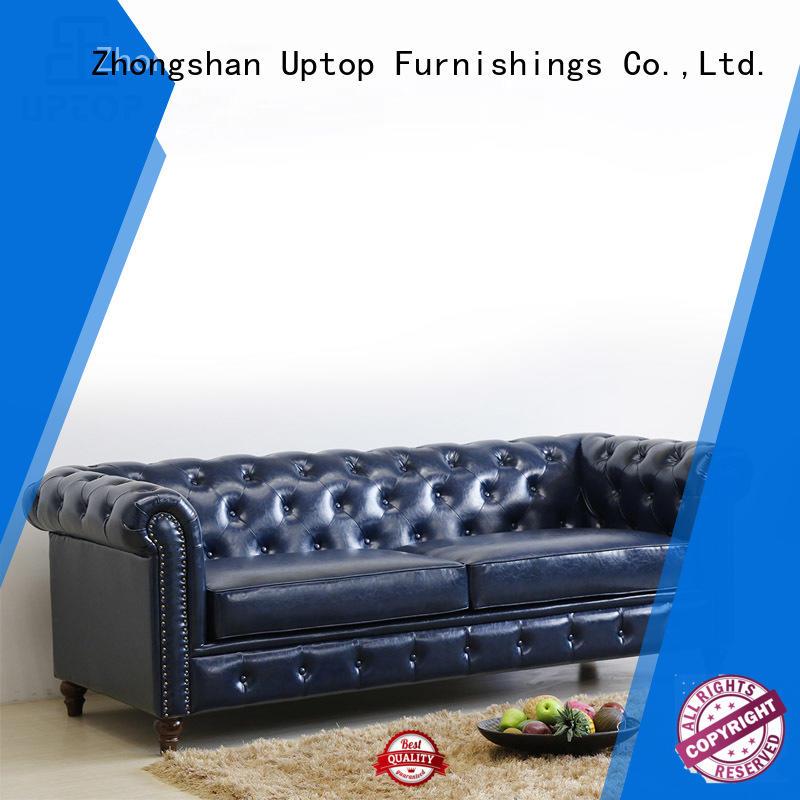 love seat arm scroll reception sofa Uptop Furnishings