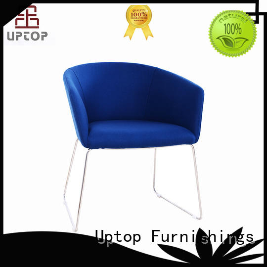 Stainless Steel Frame Office Meeting Chair with Arm Upholstery (SP-HC058)