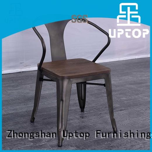 side allweather rusty Uptop Furnishings Brand metal restaurant chairs factory