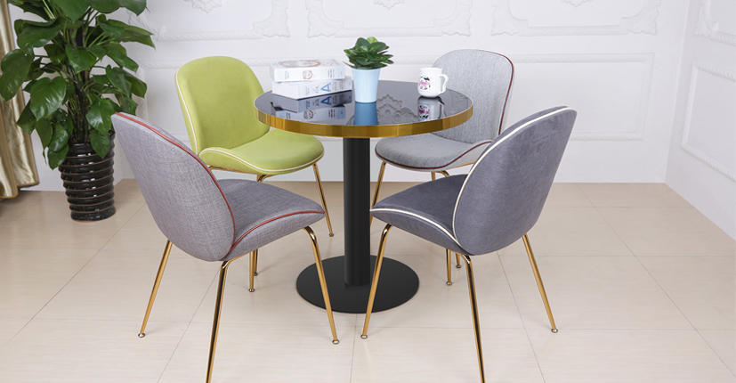 Modern Beetle Side Dining Chair Upholstered (SP-HC436)-1