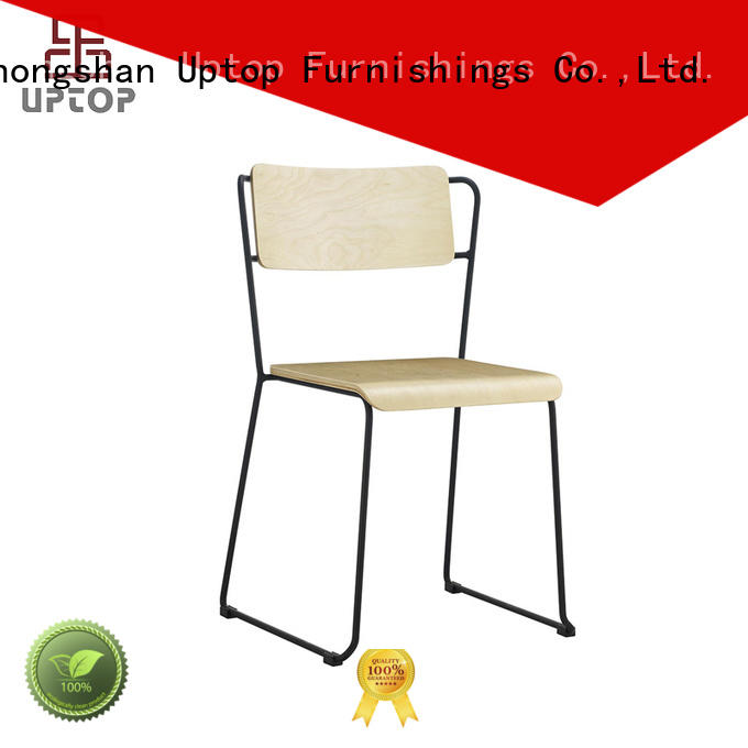 UPTOP Assembled Bent plywood Metal Dining Chair Stackable (SP-BC335)