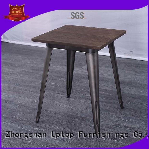 Uptop Furnishings industrial large round dining table China Factory for office